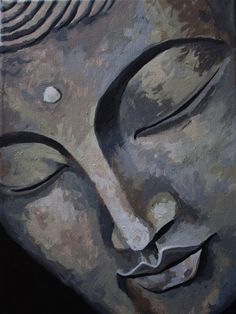 """The one who has conquered himself is a far greater hero than he who has defeated a thousand times a thousand men."" —Gautama Buddha, The Dhammapada . Buddha Face, Buddha Zen, Gautama Buddha, Budha Painting, Painting & Drawing, Buddha Drawing, Art Asiatique, Yoga Art, Zen Art"