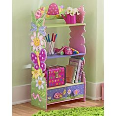 Butterfly Flower Desk Chair Book Shelf Storage Bench