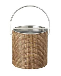 Woven 3 Qt. Ice Bucket with Metal Bar Lid