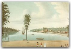 Catherine Margaret Reynolds, , A View of Amherstburg, 1812, watercolour.  Across the Detroit River from the United States, the town was permanently established as a British military fort in 1796. Fort Malden was occupied as a garrison. The town was developed by Loyalists.  Fort Malden is a fort that stands on the remains of Fort Amherstburg in Amherstburg, Ontario. The original fort was abandoned by the British/Canadians in 1813