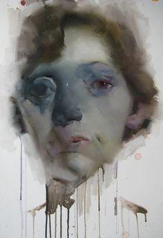 "imagined head piece, 18""x 24"" by Akira Beard, via Flickr"