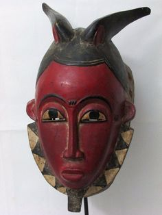 Auction ends in 10 minutes, come place your bid this beautiful mask can be yours.African Tribal Mask Baule Mask African Mask, Collectible African Art
