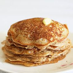 Hot cinnamon buttermilk pancakes with butter and cinnamon sugar, just like cinnamon toast