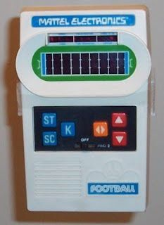 Nothing invokes a sense of nostalgia like retro toys. Check out this beauty from Mattel, it's their 1977 handheld electronic football. 1970s Toys, Retro Toys, Vintage Toys 1970s, Retro Vintage, Childhood Toys, Childhood Memories, Old School Toys, Oldies But Goodies, I Remember When