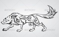Buy Wolf Tribal Tattoo by kuzzie on GraphicRiver. Vector image of a wolf in tribal tattoo pattern Symbol Tattoos, Wolf Tattoos, Wolf Tattoo Back, Small Wolf Tattoo, Wolf Tattoo Sleeve, Elephant Tattoos, Body Art Tattoos, Maori Tattoos, Wolf Tattoo Design