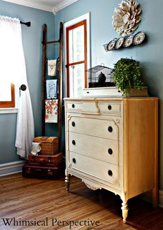 Laura Bright of Whimsical Perspective shares this lovely dresser refinished in Old Ochre Chalk Paint® decorative paint by Annie Sloan!
