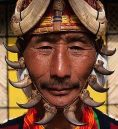 India ~ Nagaland | Yimchungru Tribesman During Hornbill Festival | © Jeremy Hunter - Click for More...