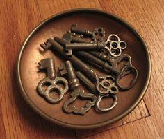 copper bowl & old keys