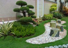 jardines pequeños con piedras y troncos - Buscar con Google
