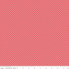 Cotton Fabric, Coral Swiss Dot by Riley Blake Designs, Kensignton Dots Red