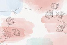Cute Desktop Wallpaper, Wallpaper Notebook, Aesthetic Desktop Wallpaper, Macbook Wallpaper, Wallpaper Backgrounds, Pastel Background Wallpapers, Floral Watercolor Background, Watercolor Wallpaper, Watercolor Rose