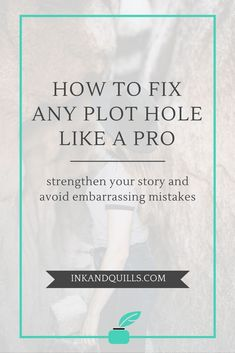 Is your novel riddled with plot holes? Plot holes ruin the experience of getting lost in a story for the reader and can make you look sloppy or lazy as a writer. Learn what plot holes look like, how they can accidentally be created, and how to find and.