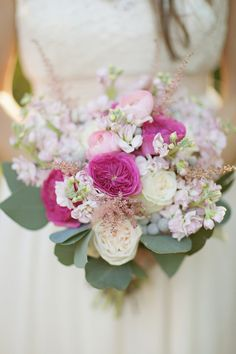 pink spring bouquet, Love Gives Way collective http://ruffledblog.com/love-gives-way-wedding-shoot #weddingbouquet #flowers