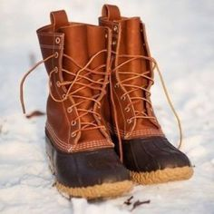 """FLASH SALE L.L. Bean Boots These are the 10 inch style. I've heard Bean Boots are always back ordered for months during winter due to high demand. So get them here for a faster option!  They even come with padded inserts for extra warmth! I am not sure of the """"true"""" size but for reference I wear a 9-10 in shoe size, and with the inserts in they fit very snugly; with inserts in and wool socks on, they are more snug than I would like; without the inserts, they are too big for me. Lmk if you…"""