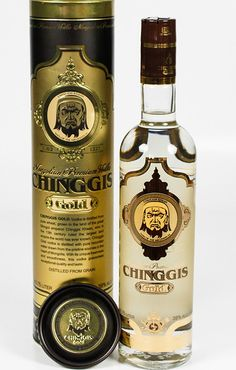Chinggis Gold Whiskey Bottle, Vodka Bottle, Beverages, Drinks, Fun Facts, Bottles, Culture, Gold, Travel