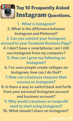 Answers to 10 of the#Instagramquestions we hear most often asked from small business owners.