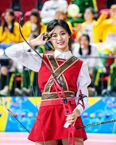 Image may contain: 1 person, standing and child Beautiful Asian Girls, Beautiful Women, Twice Tzuyu, Archery Girl, Chou Tzu Yu, Female Character Inspiration, Epic Cosplay, Cute Korean Girl, My Collection