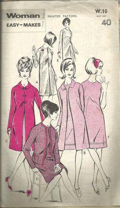 Vintage sewing Pattern. Woman W 10. by IsellVintagePatterns