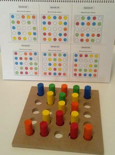 Introduction to first logic activities for toddlers Montessori Activities, Kindergarten Math, Toddler Activities, Learning Activities, Preschool Activities, Kids Learning, Maria Montessori, Teaching Strategies, Vision Therapy