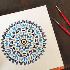 Blue mandala. Art by Claudia Calderas