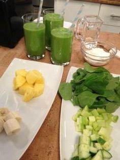 Juicing - This light, refreshing smoothie packs in nearly 3 cups of produce — and there's no pulp removed so you retain 100% of the nutrition and fiber. I add protein-heavy Greek yogurt to balance out the carb load, but you can substitute ½ cup silken tofu for the yogurt to make a vegan shake..