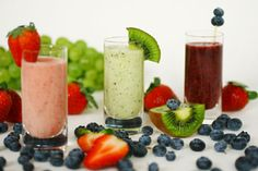 Healthy snacks for kids #neccokids  Fruit Smoothies :)