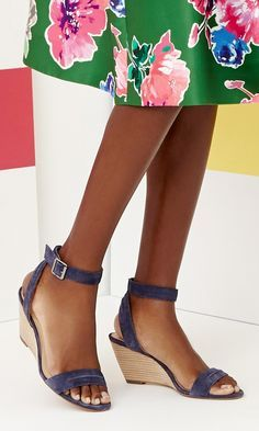 0121e63644de5 Suede mid heel wedges for summer will go with every floral dress. Shoes  Heels Boots