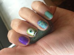 My Monsters Inc/University nails!