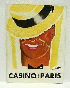 Rare Vintage Casino de Paris Program Theatre Book Maurice Chevalier French by WallflowerAntiques on Etsy