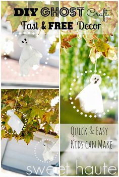 SWEET HAUTE: Free Halloween Decorations Ideas fast and budget friendly craft that kids can do together with family.