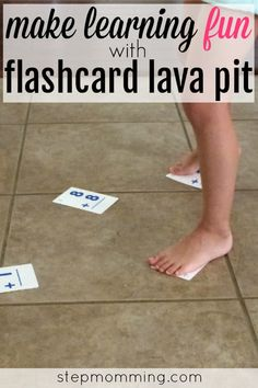 Make learning fun with this exciting math game for kids! Trade traditional flashcard flipping in for the alternate flashcard lava pit and make learning fun! Easy Math Games, Math Card Games, Card Games For Kids, Math For Kids, Mental Maths Games, Flashcard Games, Math Made Easy, Flashcards For Kids, Math Courses