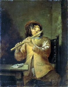 Teniers, David the Younger - Flutist