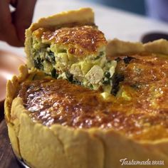 Start your morning off the tasty way with a warm, flaky quiche of spinach and ricotta.