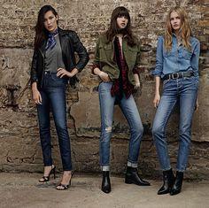 Bella Hadid, Grace Hartzel and Aneta Pajak star in Topshop's spring 2016 denim campaign