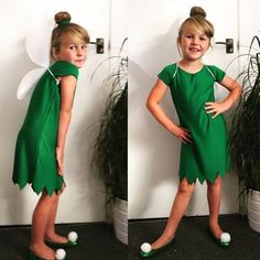 Easy Tinkerbell costume . Perfect for world book day