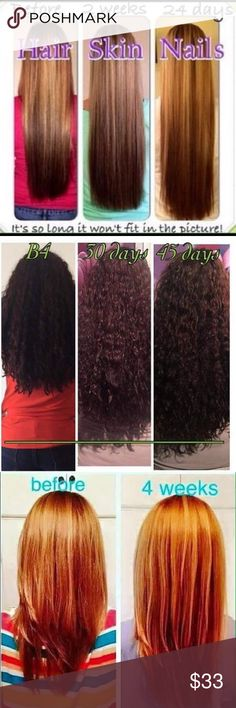 2 Hair Models Needed! 90 Day Challenge🌻 NEW JULY CHALLENGE! I need TWO more ladies to take the 90 day mermaid challenge and provide results or a testimonial! To thank you, you will receive MY discounted price and get $22 off each bottle!😍 These all natural vitamins are AMAZING! I have tried biotin, hair infinity, and everything else you can imagine and there is NOTHING like this. If you want to grow your hair LONG, FAST, this is what you are looking for!😊Contact if interested in the 90…