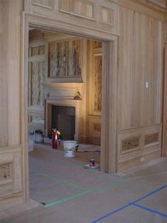Is Paneling Walls good for Home Improvement? Pecky Cypress Paneling, Wood Paneling, Wood Flooring, Panelling, Brunswick House, Doors And Floors, Muebles Living, Moldings And Trim, Moulding