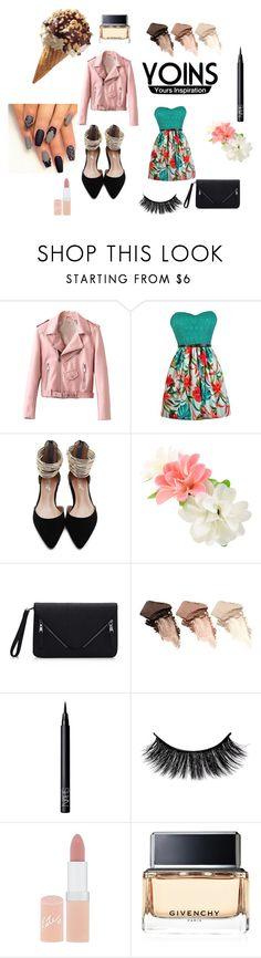 """""""night with friends"""" by angiefenguie ❤ liked on Polyvore featuring Urban Decay, NARS Cosmetics, Rimmel and Givenchy"""