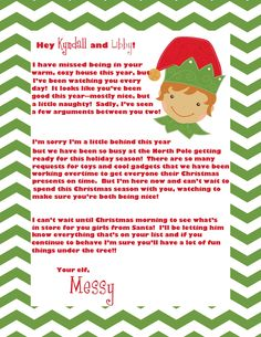 elf on the shelf welcome letter | Crazy, Beautiful Life: Elf on the Shelf Shenanigans