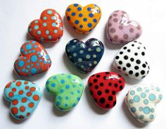 How many hearts (dilunah) Tags: glass hearts beads spots lampwork