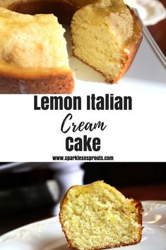 Lemon Italian Cream Cake is the perfect summer cake.  It is loaded with tons of lemon goodness making this cake a must have this Summer. . #lemon #cake #Italian #dessert #sparklesnsprouts #recipe