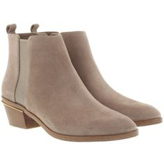 Michael Kors Boots & Booties - Crosby Bootie Dark Dk Dune - in beige -... (225 CAD) ❤ liked on Polyvore featuring shoes, boots, ankle booties, ankle boots, beige, block-heel boots, michael kors bootie, cap toe boots, beige ankle boots and beige boots
