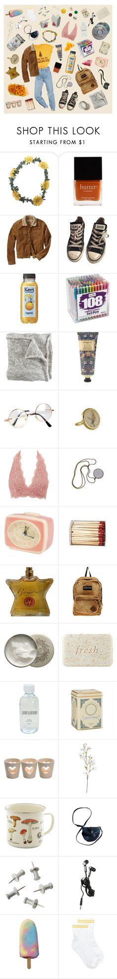 """""""mess"""" by bethany-alice4 ❤ liked on Polyvore featuring Wet Seal, Urban Outfitters, Butter London, Gap, Converse, William Morris, Retrò, Charlotte Russe, Bond No. 9 and JanSport"""