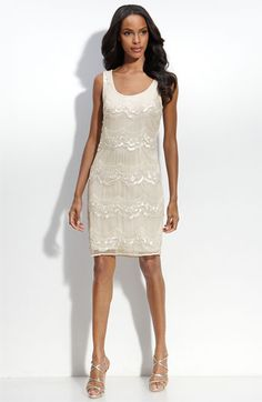 Pisarro Nights Sequined Silk Shift Dress available at #Nordstrom