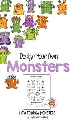 12 page monster drawing packet by Expressive Monkey