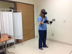 4. Virtual reality devices allow nursing students to see and touch objects in a virtual environment so they can practice skills such starting an IV or performing a clinical assessment.