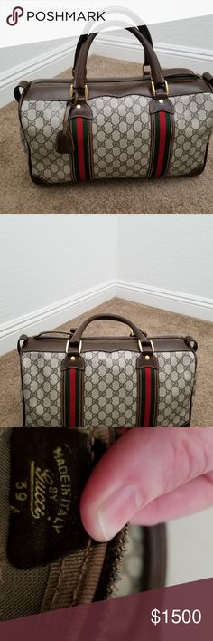 e1abb20a5391 PERFECT is this GUCCI GG BOSTON DOCTOR SATCHEL YOU WILL BE VERY PLEASED  with this Gorgeous PRISTINE Rare Vintage Gucci Boston Satchel ⛔Not taking  trades ...