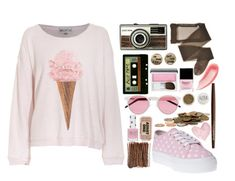 """""""Sugary haze"""" by mariii-x ❤ liked on Polyvore featuring Michele, Wildfox, Clinique, Butter London, Chantecaille, Smashbox, Topshop and Shabby Chic"""