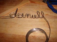 Custom hangers - for gifts, great wedding presents.