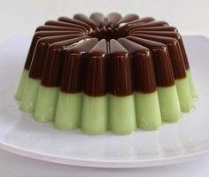 RESEP PUDING GREEN TEA CHOCOLATE - siapa yang tidak tahu resep agar-agar , bentuk nya kenyal